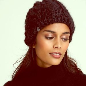 The North Face Black Cable Beanie